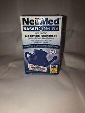 NeilMed NasaFlo Neti Pot with 50 Premixed Packets EXP 05/2022