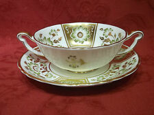 Royal Crown Derby A1237 Green Derby Panel New Soup Coupe & Saucer RRP £205.00