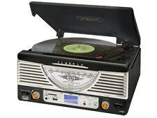 Nero Classico Retrò Vinile Record Player con funzione di copia a MP3 * AM/FM Radio