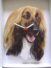 Afghan Hound Dog Horloge murale new & boxed.
