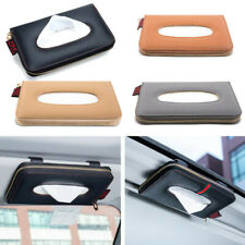 Car Sun Visor Tissue Box Leather Paper Napkin Holder Seat Box Auto Accessories