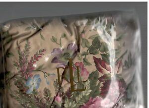 "Ralph Lauren Adriana Floral Multi King Bed Skirt Tan Pink Purple Blue New 18"""
