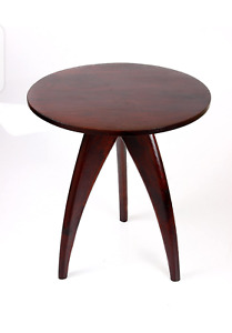 Round Wooden Stool Table, Round Wooden Bedside Table, Teak Wooden Stool Table