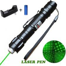 Ultra Powerstrong Pointeur laser stroboscope 1mw vert+batterie+chargeur