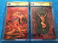 Vampirella Bloodlust #1-2 virgin set -Harris -CGC SS 9.8 9.6 Signed by Joe Jusko