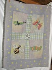 Butterfly Caterpillar Grasshopper Bubble Bee Tapestry Wall Hanging Fabric Piece