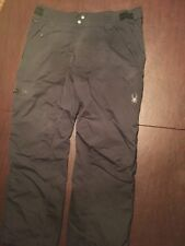 SPYDER Men's X-Large Black Snowboard Ski Nylon Winter Pants TL7