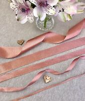 Rose Gold Sparkle Satin Ribbon - 3/10/15/25/38mm - 1/3/5m lengths - Wedding Trim