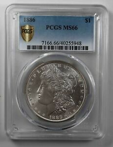 USA 1886 Morgan Silver Dollar MS-66 PCGS  [2139