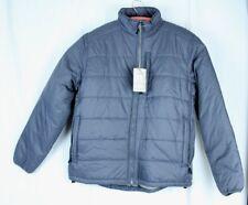 Men's Size L Gray Nylon Puffy Jacket Zippered Pockets 10,000 ft Above Sea Level