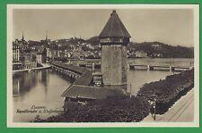 g Luzern um 1920  Rathaus Kapellbrücke Wasserturm Bazar Bahnhofsbrücke TOPP