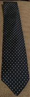 Brooks Brothers 346 Men's 100% Silk Tie Navy Blue With White Polka Dots