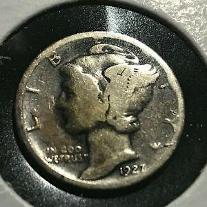 1927-S SILVER MERCURY DIME COIN