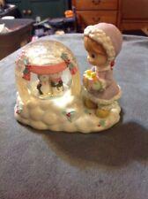 PRECIOUS MOMENTS Merry Christmas Waterball snow globe Igloo Penguins ENESCO 2000