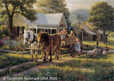 """MARK KEATHLEY """"Day Of The Fair""""  24"""" X 20"""" SIGNED and Numbered Print"""