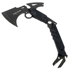 "NEW 13"" Hunting Survival TACTICAL TOMAHAWK BATTLE Hatchet w/ Fixed BLADE BLACK"