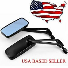 UNIVERSAL MOTORCYCLE RECTANGLE REARVIEW CUSTOM MIRRORS 8MM10MM FOR HONDA HARLEY