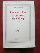 Georges Neveux - Les nouvelles aventures de Vidocq - Editions NRF Gallimard