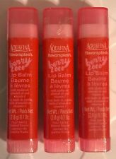 AQUAFINA Flavorsplash Lip Balm Berry Loco Sealed Four Berry Blend Lot of 3