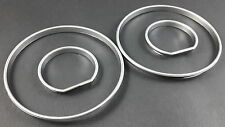 E34 E32 Silver Cluster gauge Dashboard rings speedo instrument BMW M5 5 7 Series