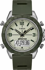 Timex TW4B17100, Expedition Pioneer Green Resin Watch, Combo, Chronograph