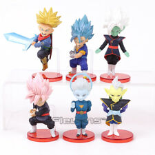 6pcs Set Dragon Ball Z WCF Black Son Goku Pink Hair Trunks Zamasu Figure Toy New