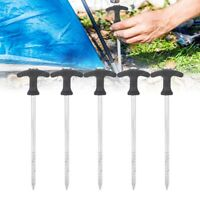 5pcs Outdoor Tent Stakes Screw Spiral Tent Peg Tool Nail Ground Anchor Pegs