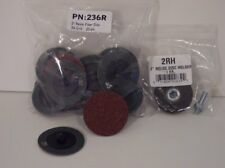 """Shark 2"""" 36 Grit Roloc Grinding Discs 25 Pack with Holder Made in USA NEW"""
