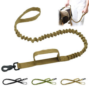 Dog Leash K9 Police Training Nylon Bungee Dog Lead with Handle