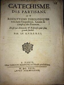 MAZARINADE.1649 CATÉCHISME DES PARTISANS.