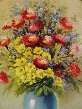 Fiem firmato-dipinto nel quadro ovalem: estate colorata-fiori-Strauss