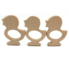 Natural Wooden  Eco-friendly Animal Shape Safe Ring Baby Teether Shower Gift WA