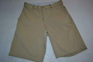 25333-a Mens Teens Nike Golf Shorts Size 28 Standard Fit Tan Polyester