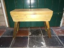 Childs stool made with reclaimed pitch pine wood