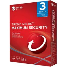 Trend Micro Maximum Security 2019/2020 V.15/16 -1Year 3Device(PC/MAC/MOBILE)-ALL