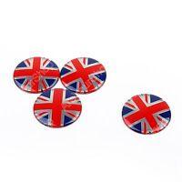 4x Wheel Center Hub Cap Emblem Badge decal Union Jack UK Flag For Mini Cooper A9