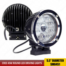 45W CREE LED Driving Lights 5.5 inch Round 4x4 Off road led SpotLights 12V x1pc