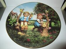 M I Hummel Plate Collection Little Companions Danbury Mint Apple Tree Boy & Girl