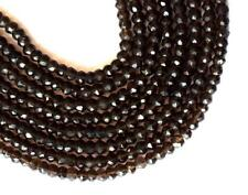 "12.5"" STRAND SMOKY QUARTZ BEADS FACETED RONDELLE 4 MM 1 LINE GEMSTONE #062"