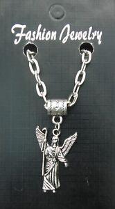 """Archangel Rafael Pendant Necklace 20"""" or 24"""" Inch Saint Raphael Angel Rāfāʾēl"""