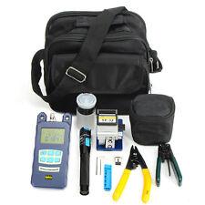 18PCS Fiber Optic FTTH Tool Kit Optical Power Meter FC-6S Fiber Cleaver USA
