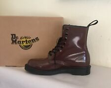 Dr.Martens Pascal 8-Eye Oxblood Petrol Virginia Leather Combat Boot US 9