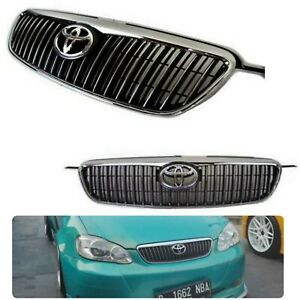 Fits to Corolla 03-08 Altis Edition Grill JDM Chrome / Black