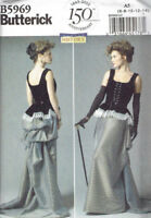 Steampunk Victorian Corset Skirt Misses Size 8-14 Butterick 5969 Sewing Pattern