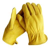 Arbeitshandschuhe,Lederhandschuhe zum Arbeiten, Gartenarbeit,1 Paar