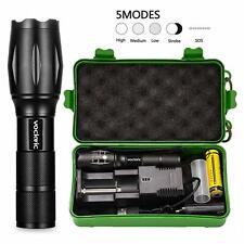 Mini Led étanche lampe de poche rechargeable torche Super Brightbatterie légè`FR