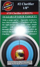 "@NEW@ 2018 Specialty Archery 1/8"" Peep Sight Clarifier Lens #2 Green! #739"