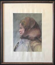 Marcel Chabas (1890-1948) Femme Yougoslave 1928 aquarelle Provence France