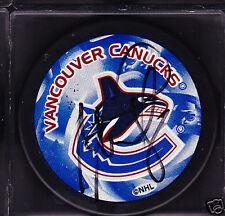 Marek Malik Autograph Signed Vancouver Canucks Puck