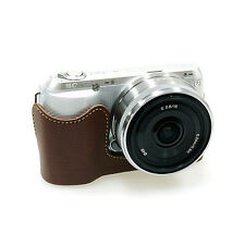 New Synthetic Leather HORUSBENNU Camera Half /Bottom case HC-NC3 for SONY NEX-C3